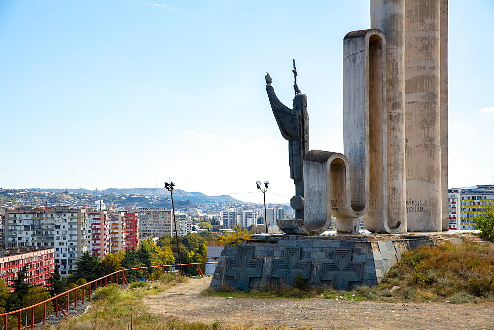 Monument to Saint Nino in Tbilisi, Georgia, Central Asia, Asia - 1304-81