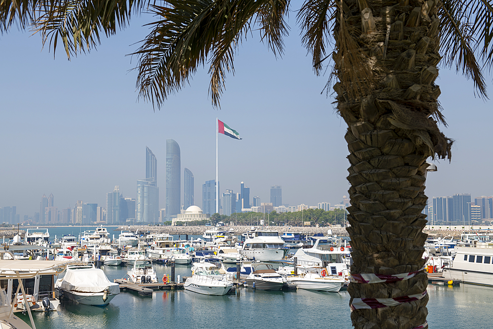The city skyline and Marina, Abu Dhabi, United Arab Emirates, Middle East