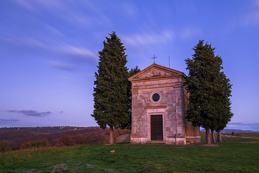 Vitaleta Church (Madonna di Vitaleta), San Quirico d'Orcia, Val d'Orcia, UNESCO World Heritage Site, Tuscany, Italy, Europe