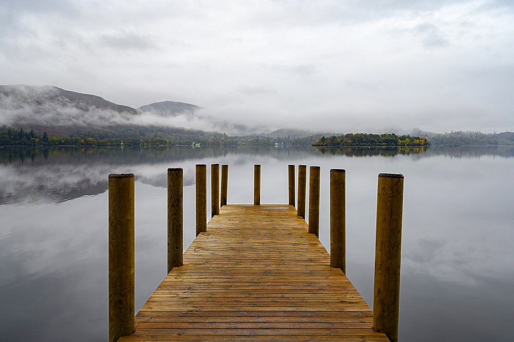 Ashness Pier Landing Jetty, Derwentwater, Keswick, Lake District National Park, UNESCO World Heritage Site, Cumbria, England, United Kingdom, Europe