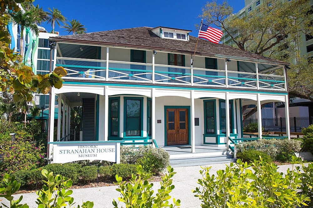 Stranahan House, the oldest surviving building in Broward County, now a museum, Downtown, Fort Lauderdale, Florida, USA - 1310-263