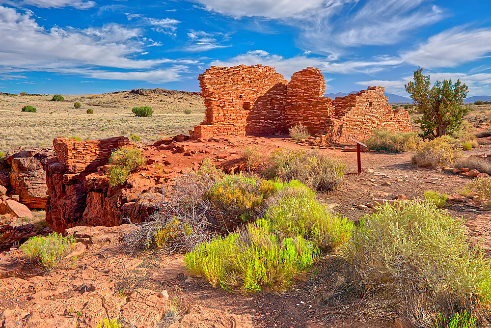 Lomaki Pueblo Ruins, Wupatki National Monument, Arizona, United States of America, North America - 1311-124