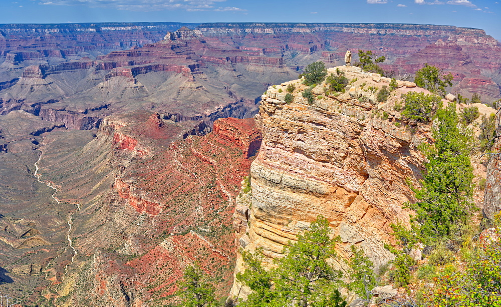 View of Shoshone Point on the south rim of the Grand Canyon from the west side of the point, Grand Canyon National Park, UNESCO World Heritage Site, Arizona, United States of America, North America - 1311-154