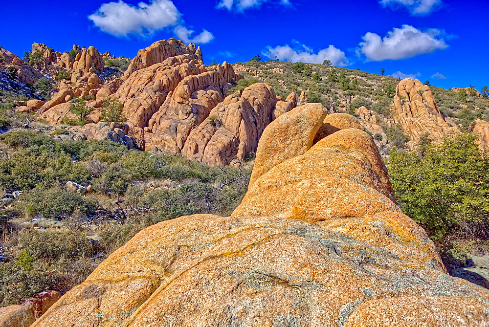 Strangely shaped granite rocks along a trail in Constellation Park called Hole in the Wall, Prescott, Arizona, United States of America, North America