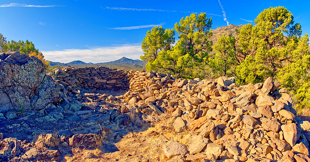 Ancient Indian Ruins near Granite Mountain in the Prescott National Forest of Arizona. - 1311-274