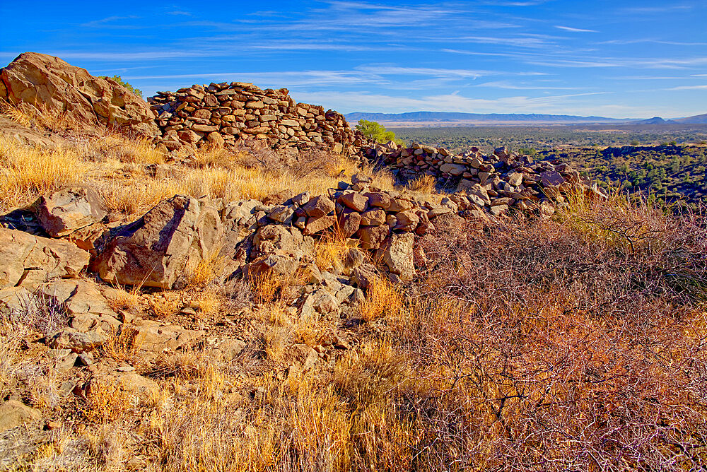 Ancient Indian Ruins near Granite Mountain in the Prescott National Forest of Arizona. - 1311-275