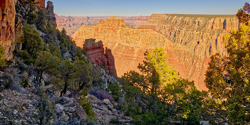 View from the Starboard side of the formation called Sinking Ship in Grand Canyon National Park Arizona. - 1311-311