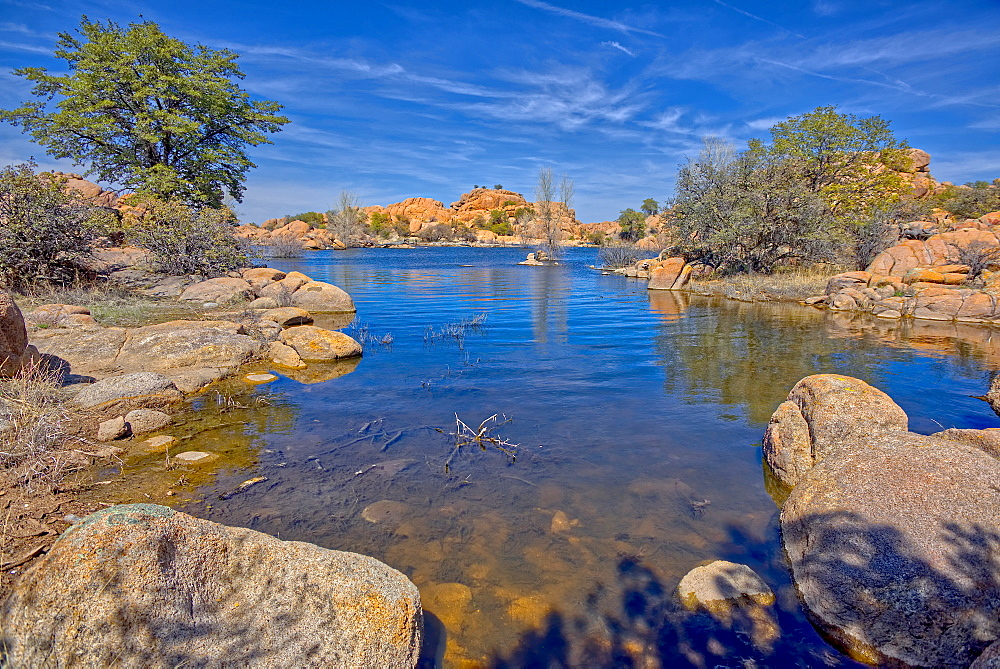 View of a small cove near the end of Lake Shore Trail in Watson Lake at Prescott, Arizona, United States of America, North America
