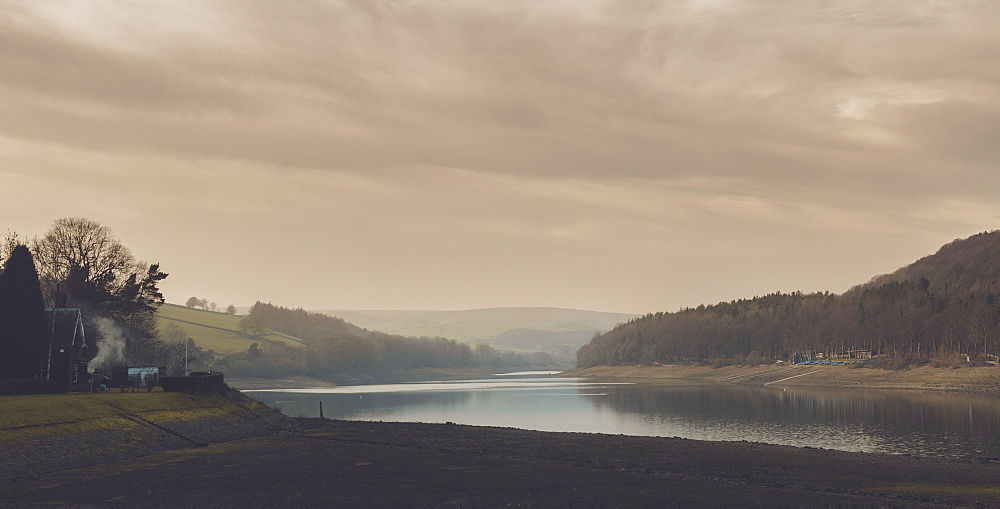 A calm evening at Damflask Reservoir in February - 1312-3
