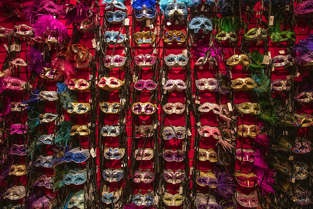 Mardis Gras masks for sale in New Orleans, Louisiana, United States of America, North America - 1315-236