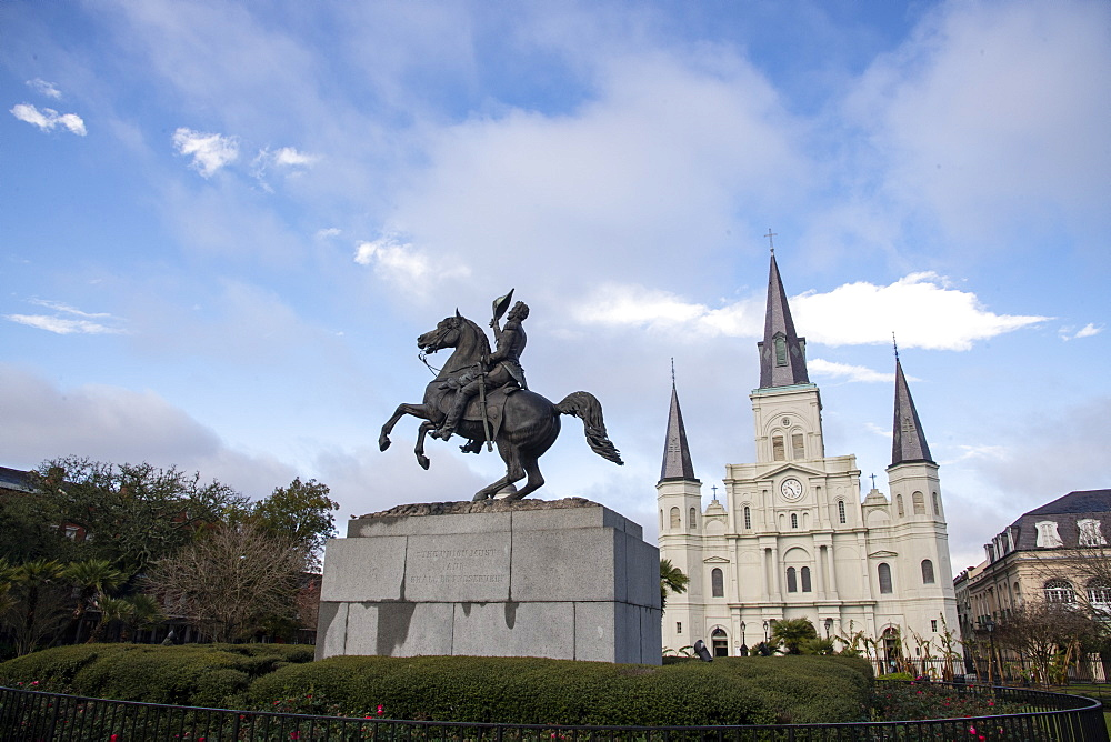 St Louis Cathedral in Jackson Square, French Quarter, New Orleans.