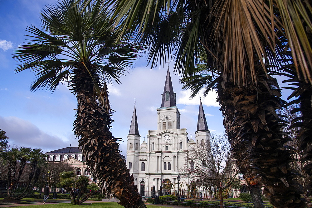 St. Louis Cathedral in Jackson Square, French Quarter, New Orleans, Louisiana, United States of America, North America