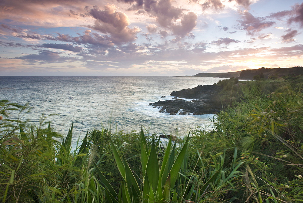 South coast of Kauai, Hawaii, USA, at sunset