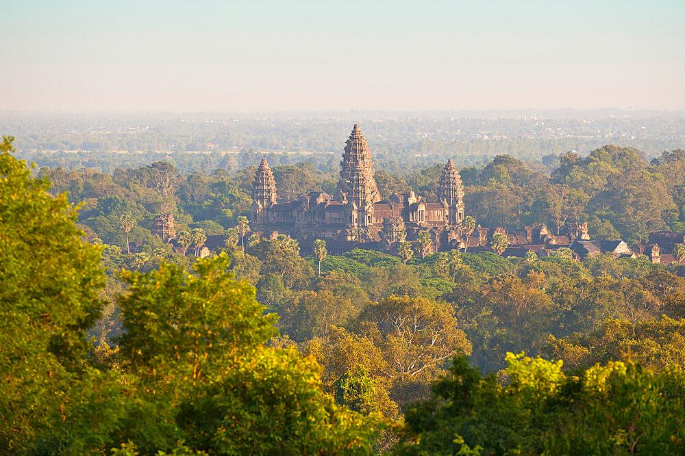 Angkor Wat, UNESCO world heritage site, Siem Reap, Cambodia, at sunset