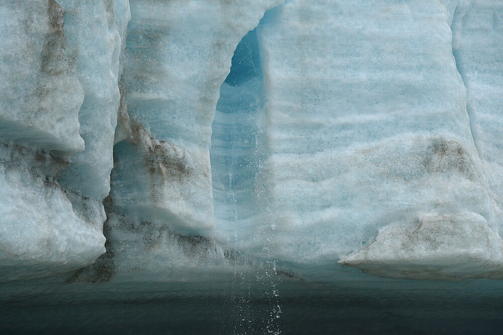 Melt water flowing from glacier face