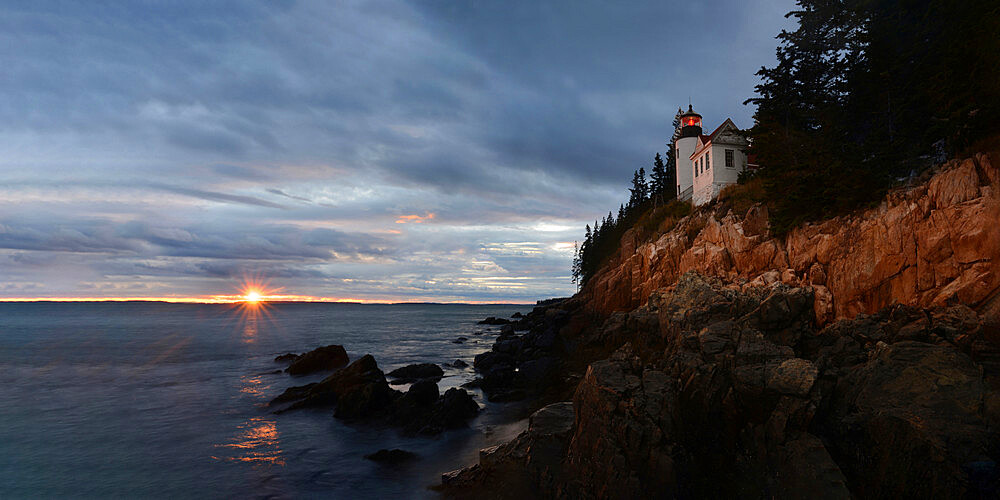 Bass Harbor Headlight at sunset