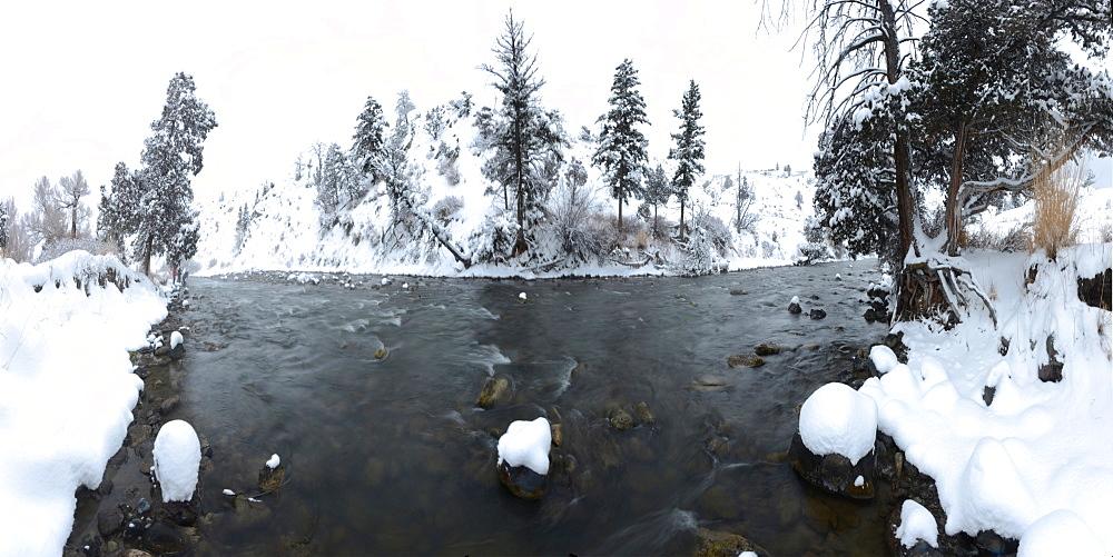 Gardner River, Montana, United States of America, North America