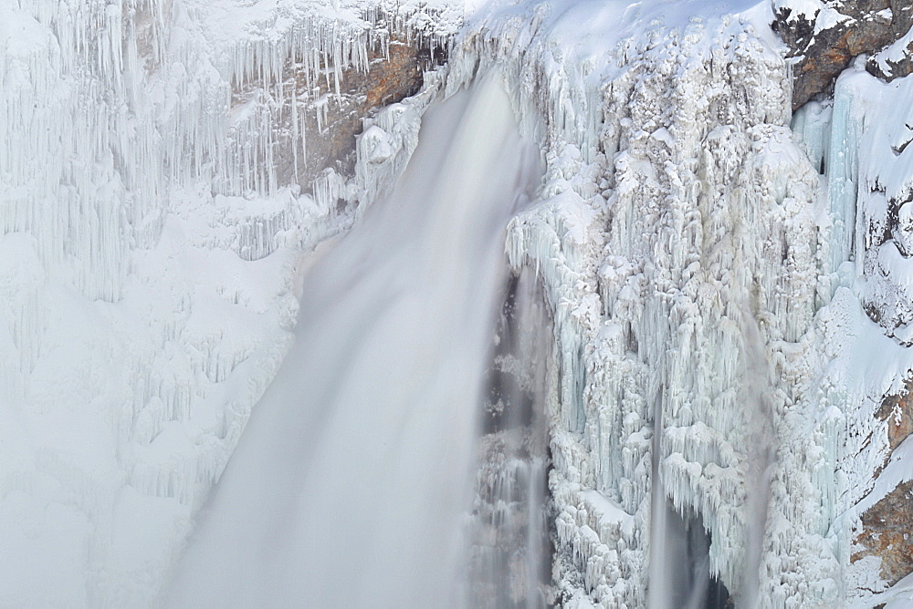 Lower Yellowstone Falls, Yellowstone National Park, Wyoming, United States of America, North America