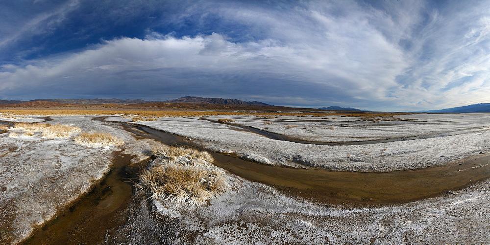 Small creeks flow into the salt flats