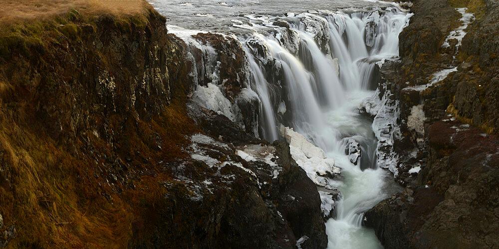 Kolugljufur Waterfall, Iceland, Polar Regions