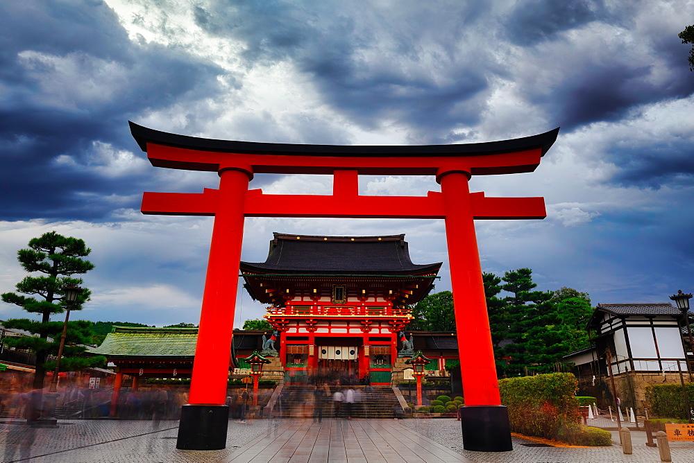 Fushimi Inari Taisha shrine in Kyoto, Japan, Asia