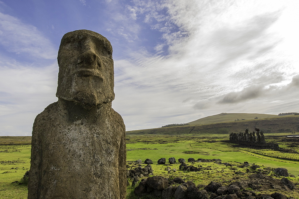 Easter Island heads, Easter Island Chile.