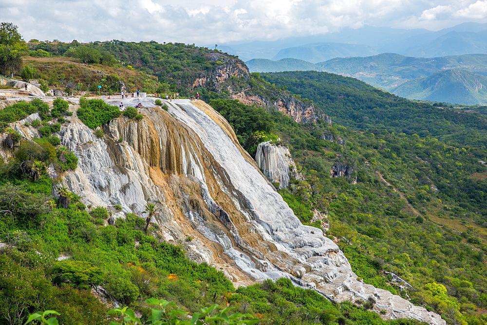 Hierve el Agua petrified waterfall in Oaxaca, Mexico, North America
