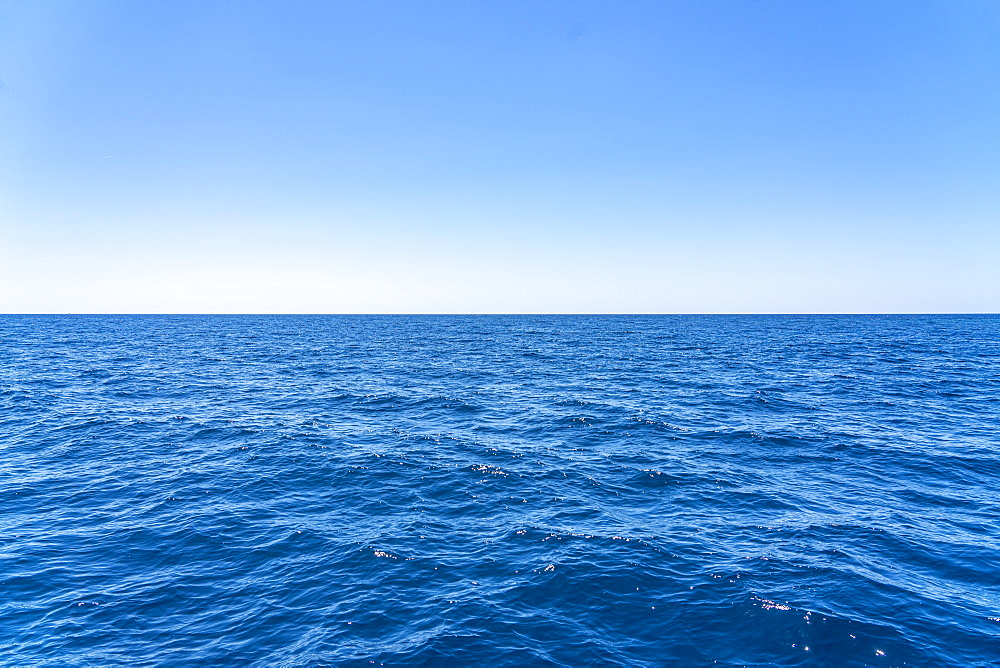 Minimal view of blue sea and sky, Montenegro