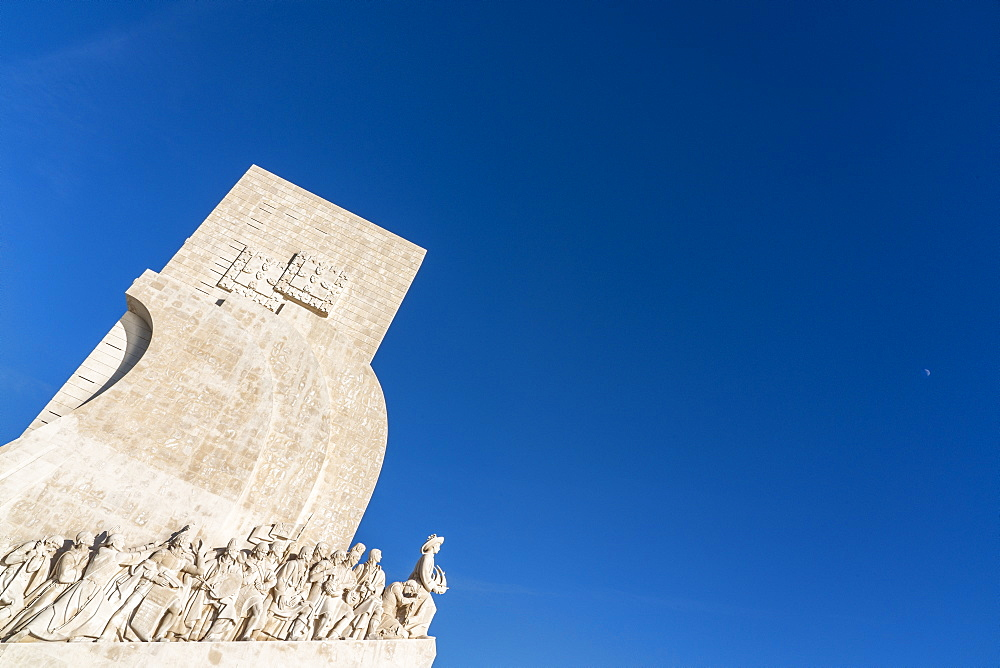 Monument of the Discoveries (Padrao dos Descobrimentos) celebrates Portuguese Age of Exploration in 15th and 16th centuries, opened in 1960, Belem, Lisbon, Portugal, Europe - 1327-16