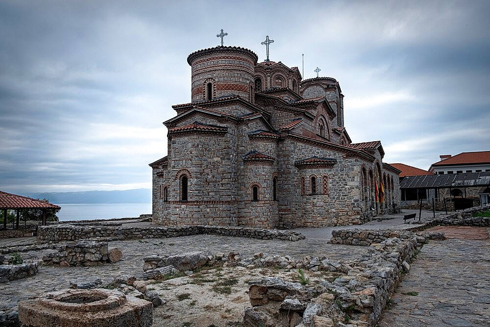 Byzantine Church of saints Clement and Panteleimon, Ohrid, North Macedonia - 1336-121