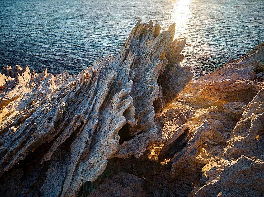 Spiked harsh rock on Antiparos island, Antiparos, Greece - 1336-128