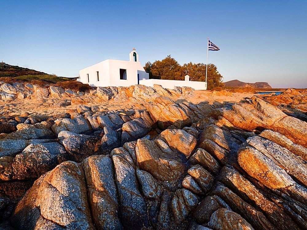 Sunset at Agios Georgios beach, Antiparos, Greece - 1336-130