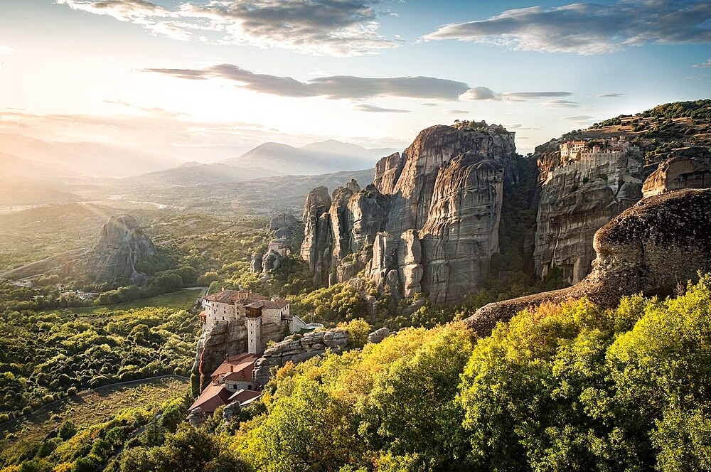 Sunset in Meteora, Thessaly, Greece - 1336-148