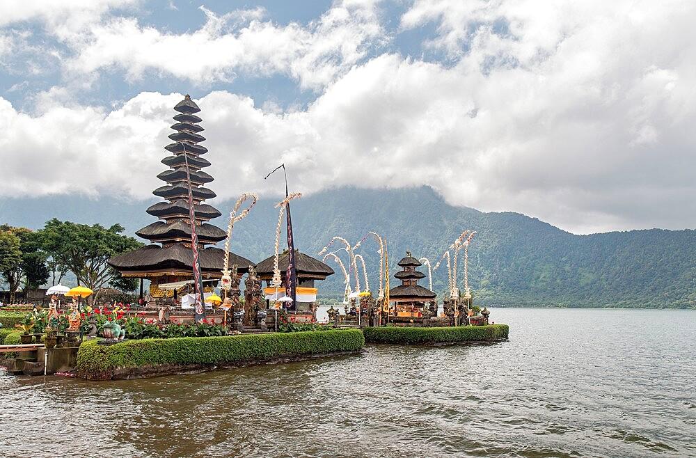 Pura Ulun Danu Bratan temple on the a lake, Bali, Indonesia - 1336-178