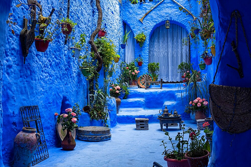 The blue city of Chefchaouen, Morocco - 1336-186