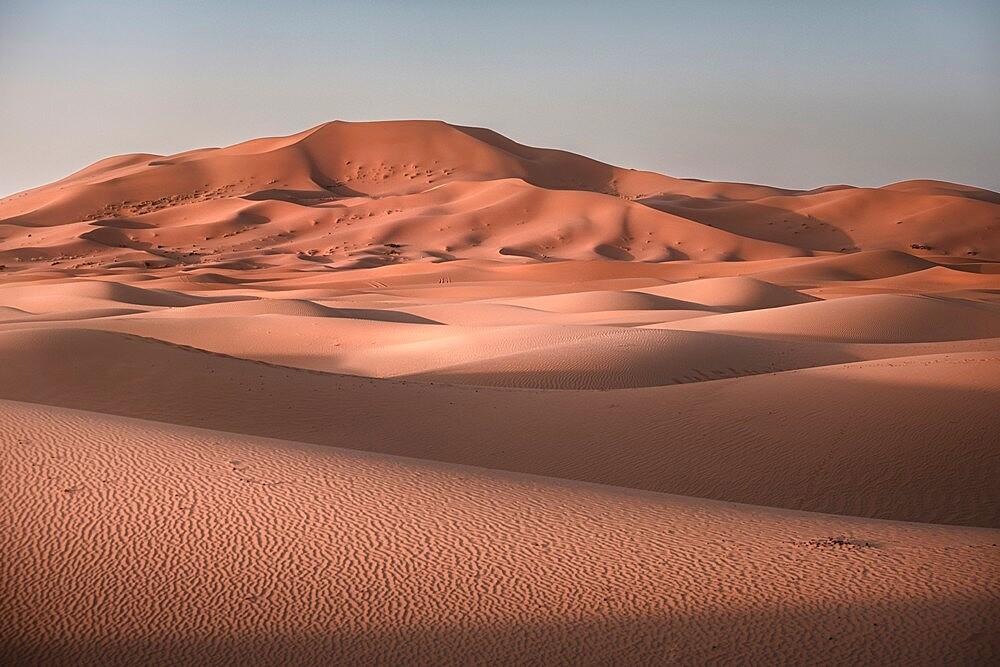 Sand dunes at sunrise in Sahara desert, Merzouga, Morocco - 1336-190
