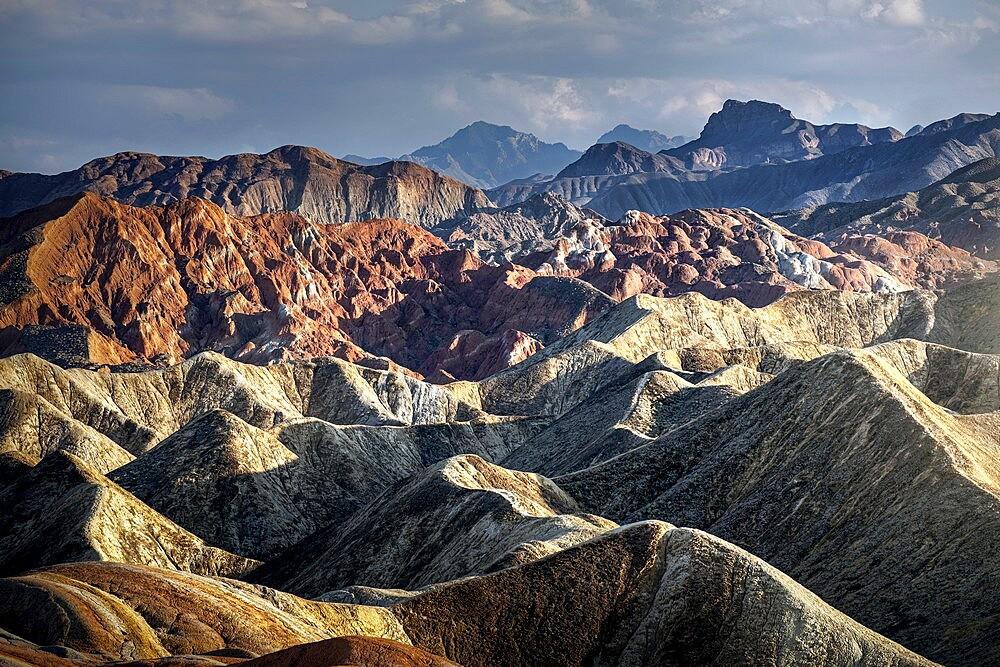 Rainbow mountains of Danxia, Gansu, China - 1336-73