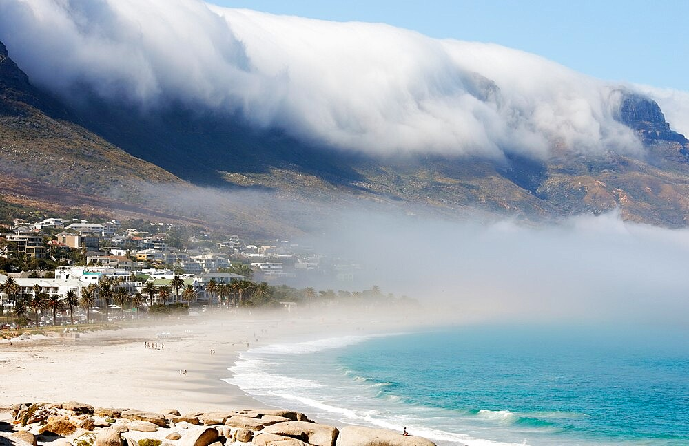 Camps Bay with morning marine fog - 1338-14