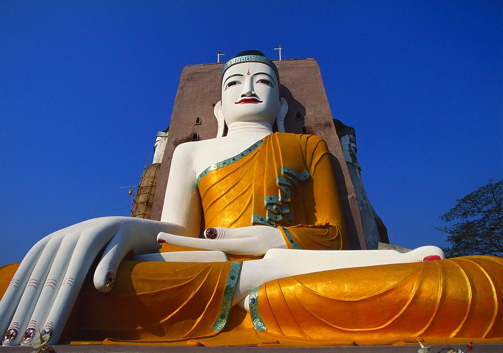 Large Statue of the Buddha at Kyaik Pun Paya, Bago, Myanmar - 142-4493