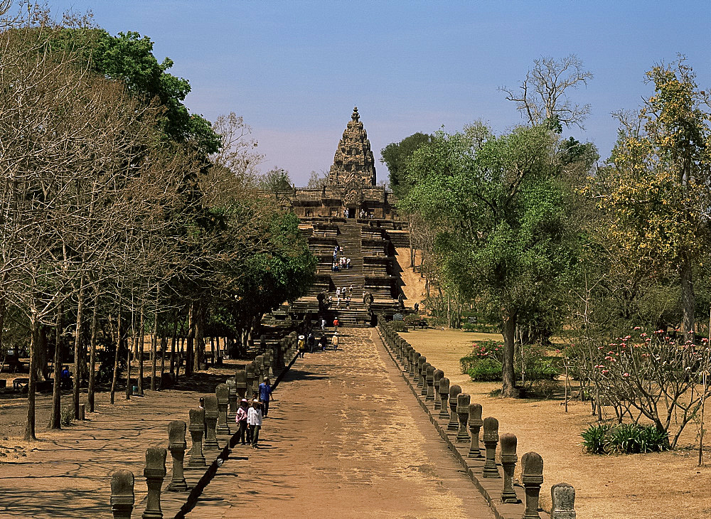 Processional way, Prasat Hin Khao Phnom Rung, Khmer Temple, Khorat Plateau, Thailand, Southeast Asia, Asia