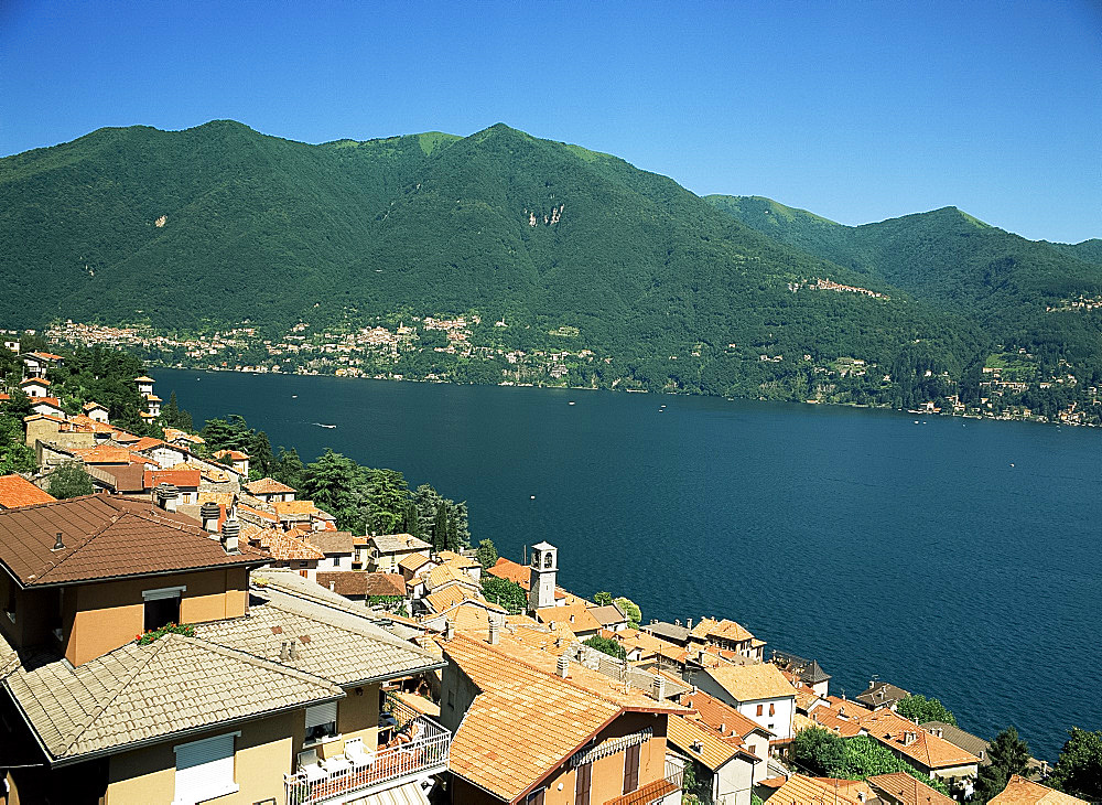 View from Laglio, Lake Como, Lombardy, Italian Lakes, Italy, Europe