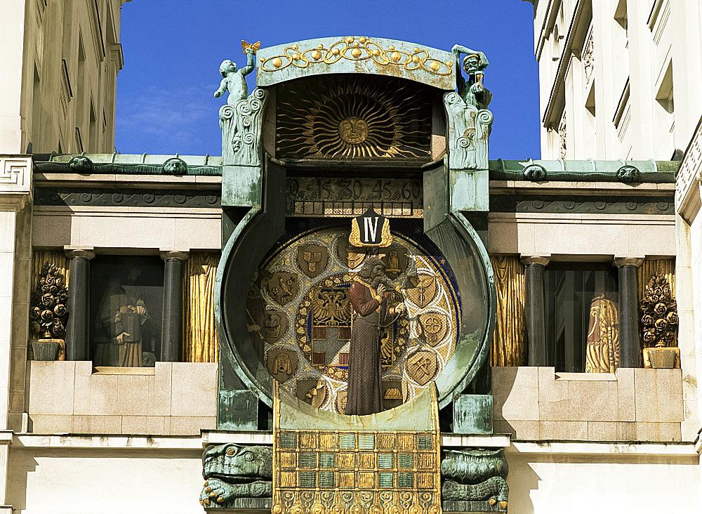 Anker Clock in Hoher Market, Vienna, Austria, Europe