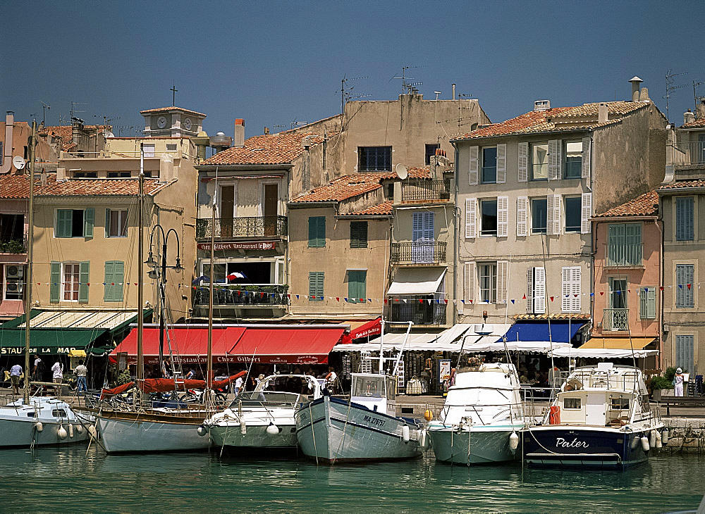 Harbour, Cassis, Bouches du Rhone, Provence, France, Mediterranean, Europe
