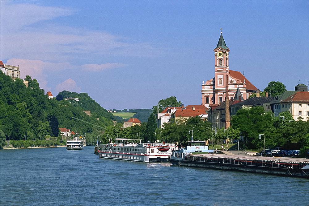 The Danube River, Passau, Bavaria, Germany, Europe