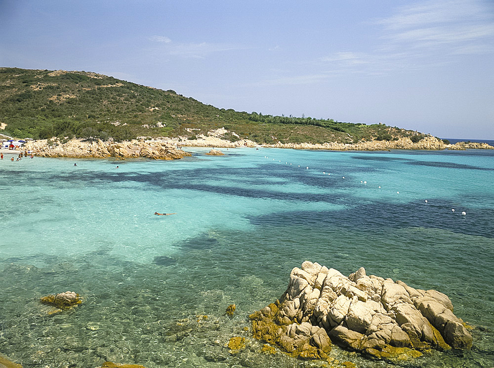 The sea near Romazzino, Costa Smeralda, island of Sardinia, Italy, Mediterranean, Europe