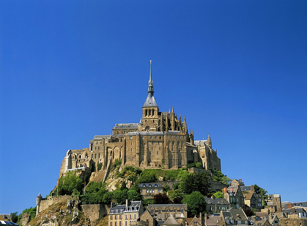 Mont Saint-Michel (Mont-St. Michel), UNESCO World Heritage Site, Normandy, France, Europe