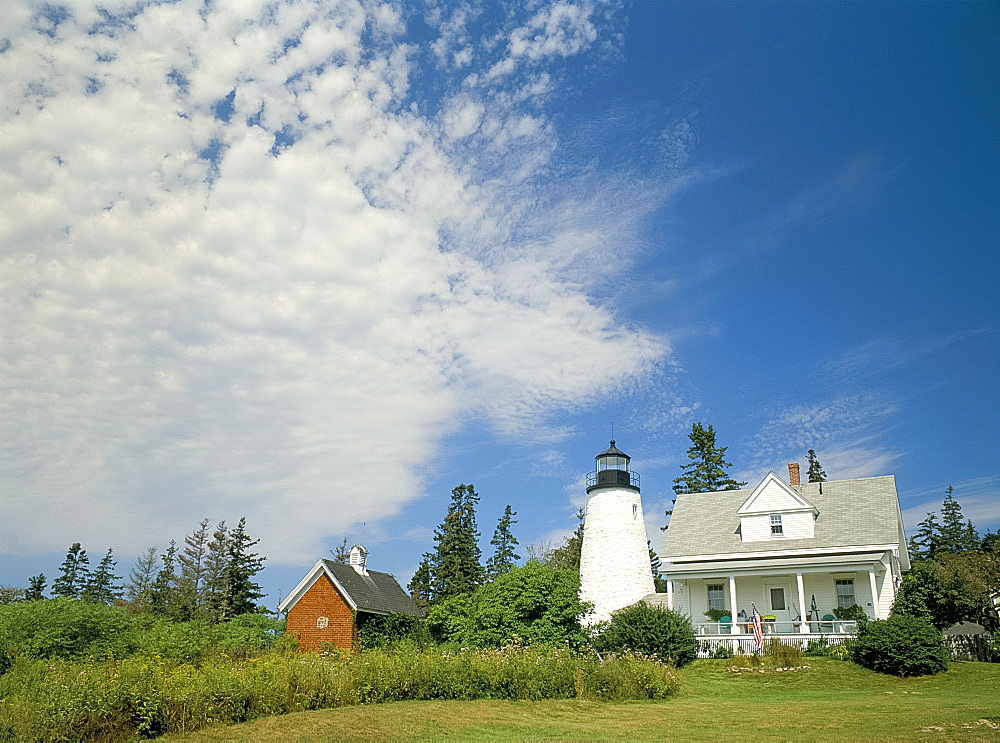 Dyce's Head lighthouse, Castine, Maine, New England, United States of America, North America