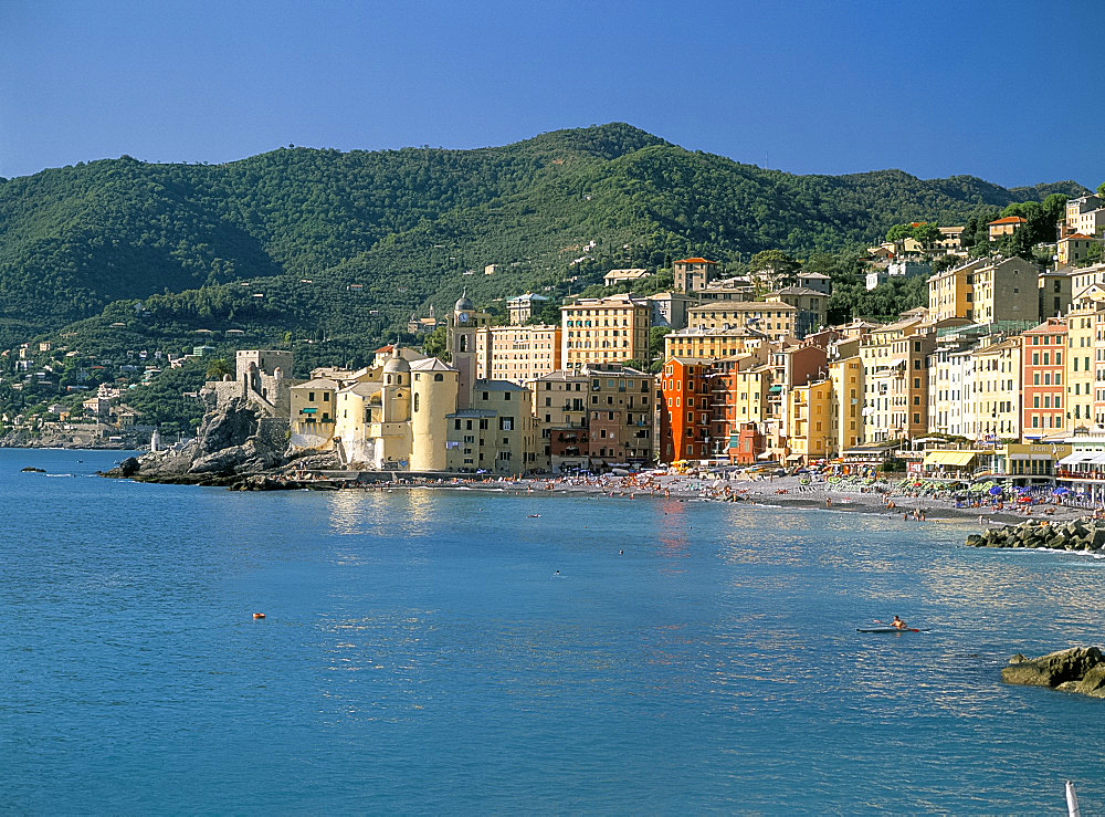 Seafront, Camogli, Liguria, Italian Riviera, Italy, Europe
