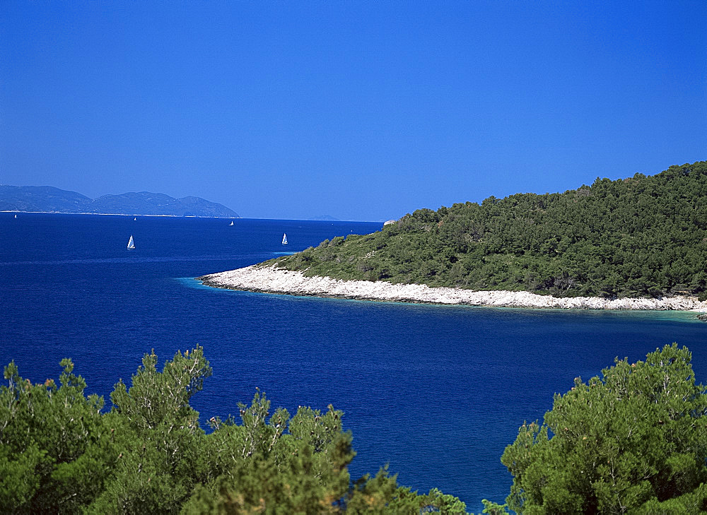 The Dalmatian Coast from the Island of Hvar, Dalmatia, Croatia, Europe