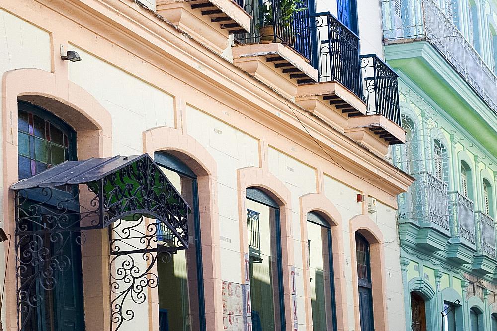Restored old buildings in Habana Vieja (old town),Havana, Cuba, West Indies, Central America